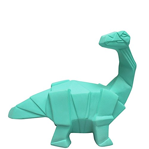 Mini luz nocturna lámpara dinosaurio branquiosauro Origami Verde Turquesa para habitación Niños–House of Disaster–leddingr