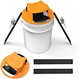 Rat Trap Flip N Slide Bucket Lid,Auto Reset N-Type Barrel Cover Flip Mouse Trap,High Sensitive Reusable Mouse Catcher Snap Traps for Indoor and Outdoor Use (B)