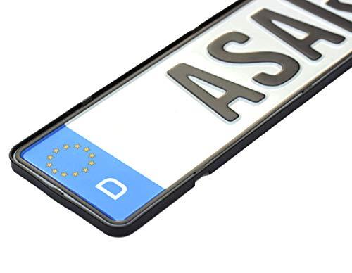 ASARAH Kennzeichenhalter Auto Rahmenlos, 2 Stück, inkl. Befestigungskit, ohne lästige Werbung Achtung Nicht FÜR ÖSTERREICH oder 3D Kennzeichen