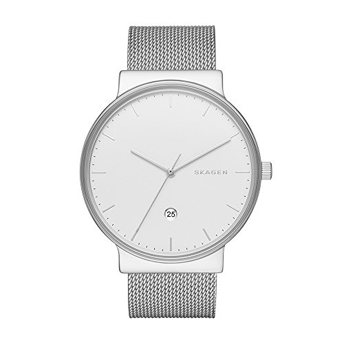 Skagen Men's Ancher Quartz Stainless Steel Mesh Casual Watch, Color: Silver-Tone (Model: SKW6290)