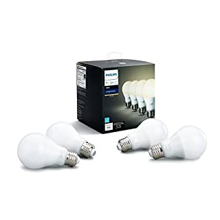 Philips Hue White 4-Pack A19 60W Dimmable LED Smart Bulbs, Compatible with Alexa, HomeKit & Google Assistant, Hub Required (All US Residents) (B07DQ3RJS1) | Amazon price tracker / tracking, Amazon price history charts, Amazon price watches, Amazon price drop alerts