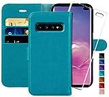 MONASAY Galaxy S10 Plus Wallet Case, 6.4 inch [Included
