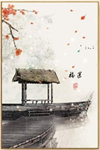 YWOHP Nueva Tinta China Flor Buda Pintura de Pared Sala de Estar Pintura Lienzo póster sin marco-40x60cm_No_Framed_1