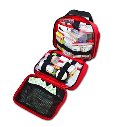 Lightning X Premium RipAway Individual First Aid Kit for Vehicle Head Rest  RED