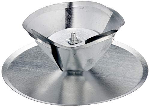 FIREFIX 2097 Kaminlochdeckel mit Spreiztrichter, verstellbar bis ø 160 mm, Silber