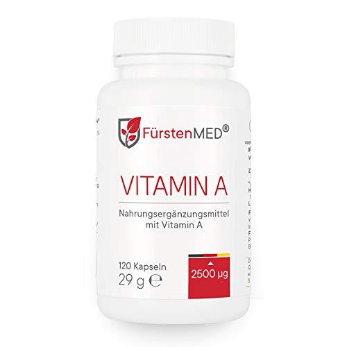 FürstenMED® Vitamin A Hochdosiert - Vegan - Optimale Bioverfügbarkeit - 120 Kapseln aus Deutschland ohne Zusatzstoffe