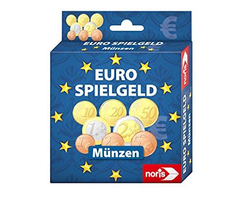 Noris 606521012 Spielgeld Münzen, geeignet als Spielset für Spielkassen, Kaufladen, rechnen lernen, uvm., ab 3 Jahren
