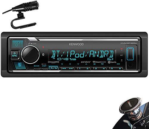Kenwood KMM-BT325U Single Din Bluetooth SiriusXM Ready in-Dash Digital Media Car Stereo Receiver W/Spotify Control + Gravity Magnet Holder