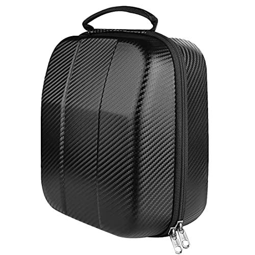 Geekria UltraShell Funda para auriculares de gran tamaño, bolsa de transporte de viaje de carcasa rígida protectora de repuesto con almacenamiento de cables, compatible con Sennheiser HD 599, HD 598, AKG K167 (negro)