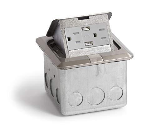 Lew Electric PUFP-SQ-SS-USB Power Box