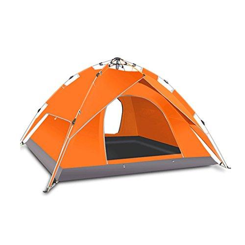 LHR Tentes imperméables en dôme, Tente de Camping Portable, Tente Automatique pour Camping-Car en Plein air Explorer (Couleur : Orange)