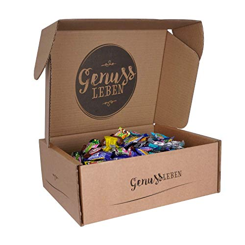 Genussleben Center Shock 5er Set Kaugummi Mix, extra sauer, saure Kaugummis, Cola Cherry Apfel Mystery und Scary, 5x 100 Stück
