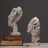オーナメントホームファニシング現代のキャラクター抽象彫刻のモデル樹脂工芸家の装飾リビングルームオフィス工芸(カラー、B)、 (Color : C A+b)