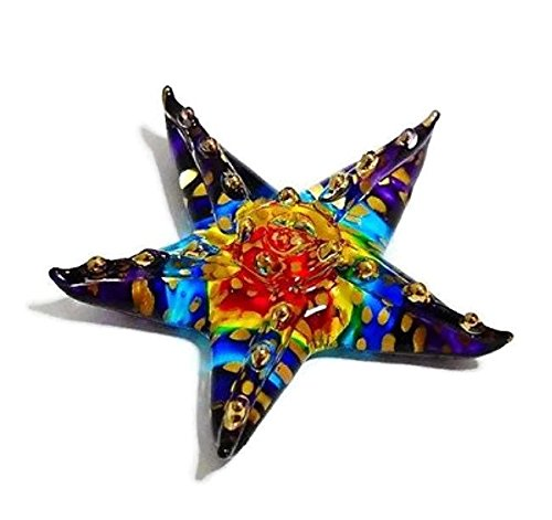 Mr_air_thai_Glass_Blown Tiny Crystal Starfish Hand Blown Clear Glass Art Star Fish Figurine Animals Collection Glass Blown