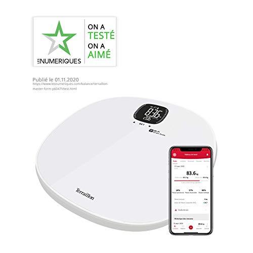 Terraillon, MASTER FORM, Balance Connectée Wi-Fi, Calcul Poids et IMC, Jusqu'à 8 Personnes Simultanément