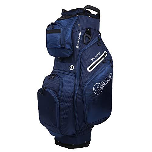 Ram Golf FX Deluxe Golf Cart Bag with 14 Way Dividers Navy Nebraska