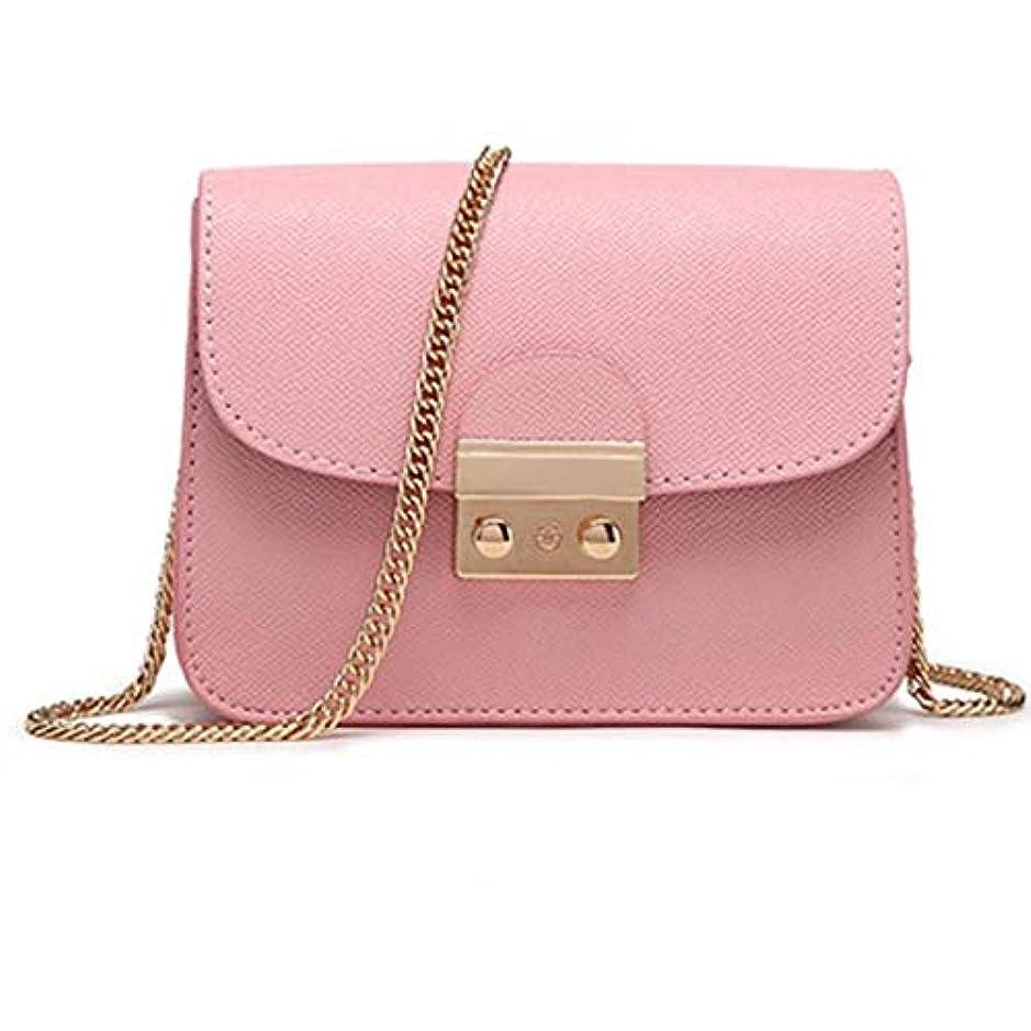 追跡そこ少なくともHappycolor レザークラッチバッグ BAG 【ピンク】革 ハンドバッグ ショルダー チェーン 海外セレブ K-069-6