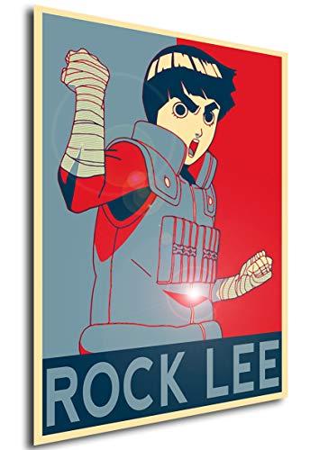 Poster Naruto'Propaganda' Rock Lee - Formato A3 (42x30 cm)