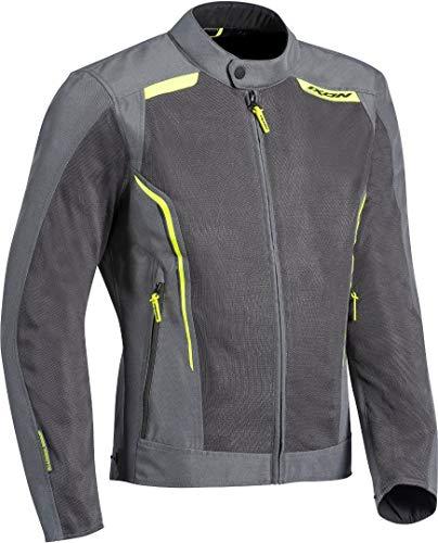 IXON Motorradjacke Cool Air Grau Gelb Größe L
