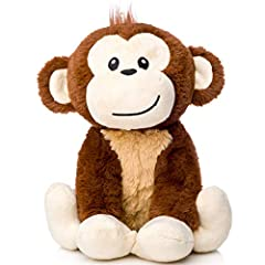 "SOFT AND CUDDLY - great size for snuggling! Simeon is 10"" tall (or 11"" counting his cool hair!) SIMEON IS HIS NAME - he's our stuffed animal monkey mascot, and we adore him! YOUR CHILD'S BEST FRIEND - he's more than just a plush monkey! HIGH QUALITY ..."