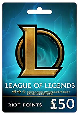 League of Legends £50 Prepaid Gift Card (7920 Riot Points)