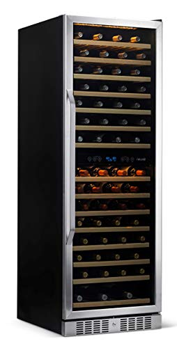 NewAir Wine Cooler Built In Dual Temperature Zone 160 Bottle Chiller,...