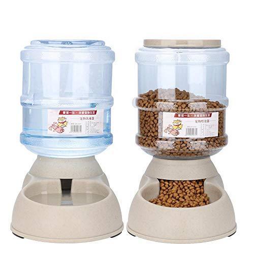 EBTOOLS Bebedero Alimentador Comedero Automático para Mascotas 3.75L Dispensador de Agua Comida Máquina de Alimentación de Perros Gatos Desmontable