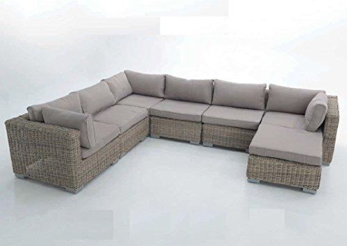 Sofa Modular Java. Compuesto por 3 módulos centrales, 1 Ottoman y 3 módulo rinconera