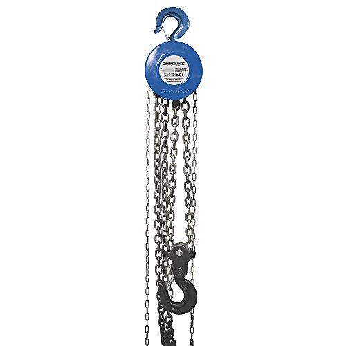 Silverline Tools 282517 - Manuale Paranco A Catena (5000 Kg/Altezza Massima 3M)