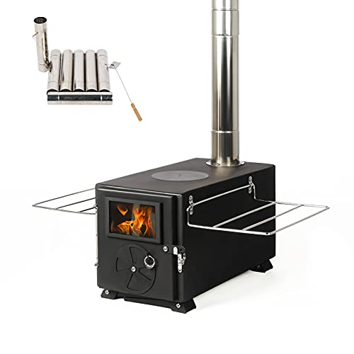YILI Outdoor Camping Stove, Portable Tent Wood Stove with Pipe, Heating Burner Stove for camping,...
