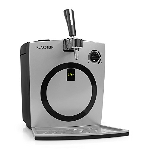 Dispensador de cerveza Klarstein Hopfenthal (con refrigeración activa silenciosa, 5 litros, grifo integrado) - plateado