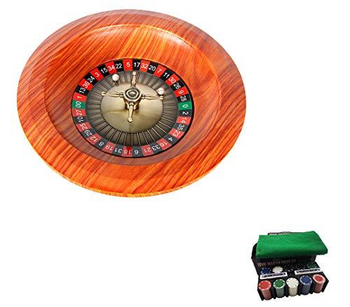 Dongbin Roulette-Tisch Roulette-Rad Set Holzplattenspieler Roulette-Rad Set Spaß Freizeit Unterhaltung Tischspiele Erwachsene Kinder Zeichnen Drehscheibe