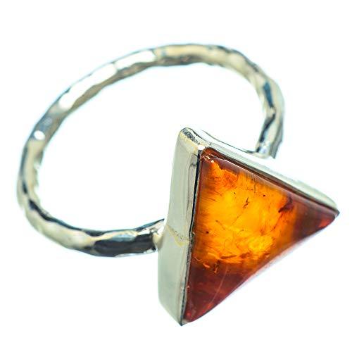 Baltic Amber, Baltischer Bernstein 925 Sterling Silber Ring 9