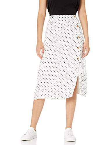 The Drop Women's Kumiko High-Rise Side Button Slit Midi Skirt