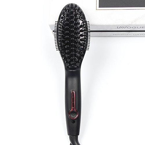 Brosse de redressage de cheveux, ions négatifs anti-Scald plus rapide technologie de céramique de chauffage, Auto Shut off fonction de chaleur instantanée