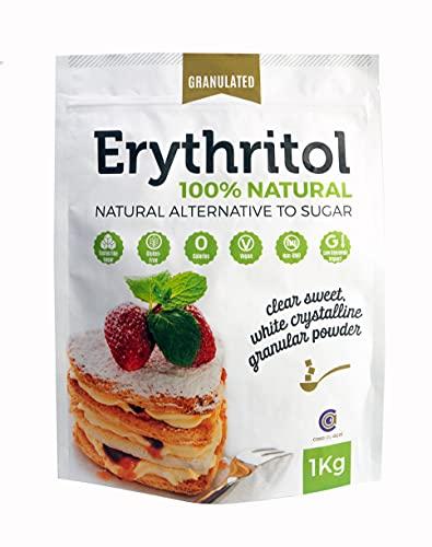 Eritritol 100% Natural, Puro Edulcorante con 0 (CERO) Calorías, Sustituto al Azúcar y Apto Dietas Keto (1kg)