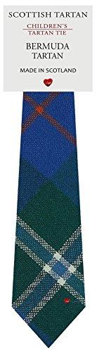 I Luv Ltd Garçon Tout Cravate en Laine Tissé et Fabriqué en Ecosse à Bermuda USA Tartan