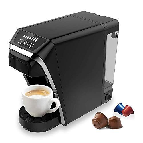 Chulux Capsule Coffee Maker Machine Multifunzionale 2 in 1 compatibile con Nespresso/Dolce Gusto Capsule