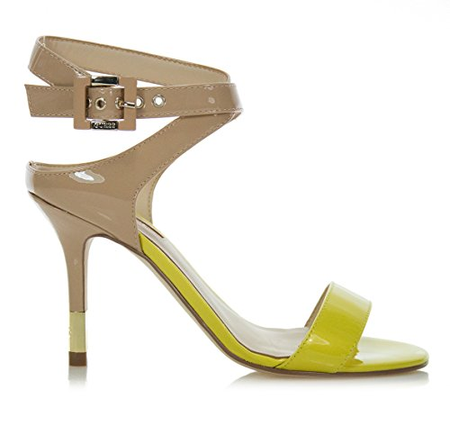 GUESS Bombas de Mujer Highheels stilettos Strappy Sandalias Amarillas