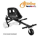 Upgrade Hoverboard Conversion Kit, Seat Attachment go cart, go Kart, Hoverboard Accessories, with Heavy Duty Frame Fun for Kids Fits 6.5'/8'/10' (Black)