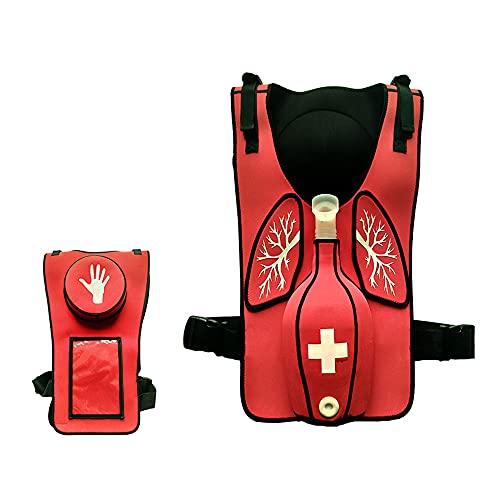 Chaleco De Entrenamiento De Simulación De Obstrucción De Las Vías Respiratorias, Modelo De Entrenamiento De Primeros Auxilios Para RCP De Vías Respiratorias Para Adultos, Para Auto-rescate Simulado