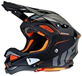 Casco de motocross UFO Diamond, color negro