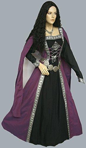 Dark Dreams Gothic Mittelalter LARP Gewandgürtel Fleur altsilber, Länge:110 cm - 6