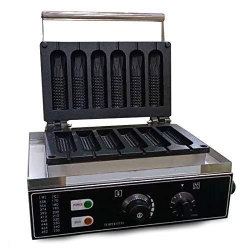1500W Professioneller Waffeleisen Temperatur Einstellbar von 50 bis 300 ℃ LED-Anzeige Waffeleisen für Bäckereien Restaurants Kioske Kantinen