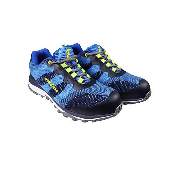Goodyear Workwear GYSHU1573 – Zapatillas deportivas para hombre, ligeras, de seguridad, deportivas, no metálicas, punta compuesta, entresuela S1P/SRA, 7/41, azul, 1