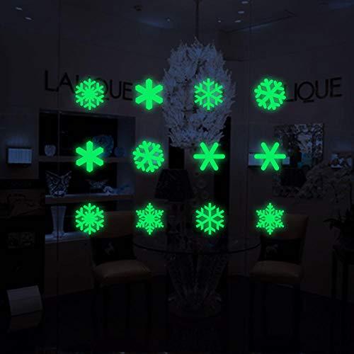cooldeerydm Kerstmis Lichtgevende Sneeuwman Gloeiende Raam Stickers Winter Muurstickers Kinderkamer Kerstversiering Nieuwjaar Stickers