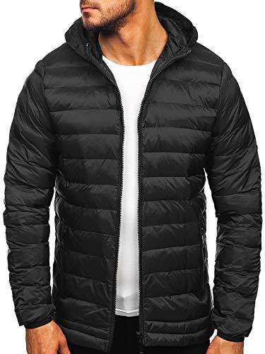 BOLF Herren Winterjacke Steppjacke Sportjacke Daunenjacke Puffer Jacket Gepolstert Outdoor Casual Street Look J.Style SM72 Schwarz XXL [4D4]