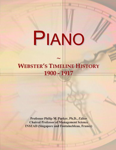 Piano: Webster's Timeline History, 1900 - 1917