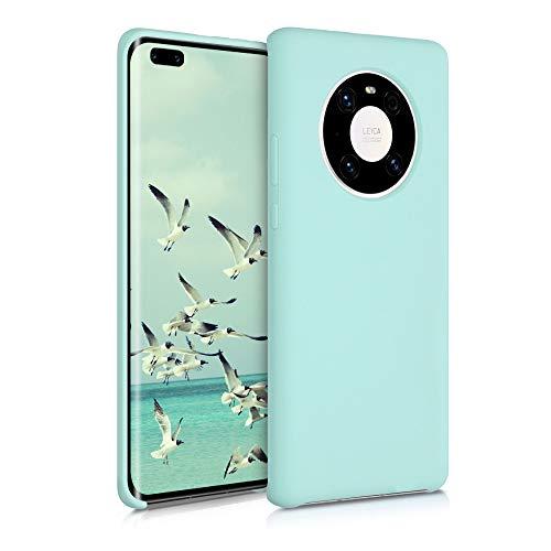 kwmobile Hülle kompatibel mit Huawei Mate 40 Pro - Hülle Handyhülle gummiert - Handy Hülle in Mintgrün matt
