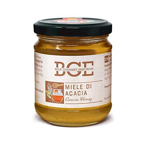 Bulk Gourmet Emporium - Miel de acacia en frascos de vidrio, 3 x 250 g (750 g en total)